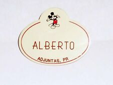 Vintage Walt Disney World Cast Member Name Tag Badge Mickey Icon