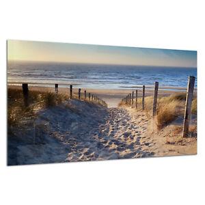 Tempered Glass Photo Print Wall Art Picture Beach Ocean Sea Dust Prizma GWA0333