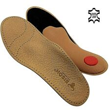 BISON Leder LUXUS orthopädische Schuheinlagen Fußbett  Premium Einlegesohlen NEU