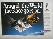 2/1990 PUB MATRA ESPACE MARCONI ESA CNES SATELLITE SPOT 2 SPACE ORIGINAL AD
