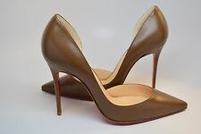 New RARE Christian Louboutin Iriza Nude Brown 100mm No4 Safki in Size 37 SOLDOUT