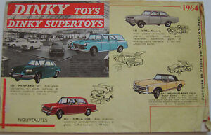 French Dinky Toy original Catalogue 1964 20 pages FAIR CONDITION