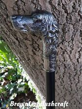 HOUND DOG HEAD WALKING STICK 'EX-SWORD STICK' LARP COSPLAY COSTUME SWAGGER CANE
