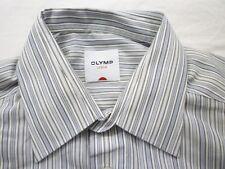 E7961 Olymp Luxor 4152/69/28 Businesshemd Kombimanschette 41 grau, blau, weiß
