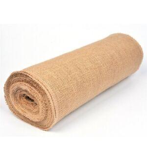 2M Natural Jute Fabric Burlap Handwork Crafts Hemp Ribbon For HOME  Sewing