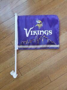 Minnesota Vikings Car Flag Window Mount Team Logo