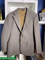 Vintage 70s Levis Panatela 3-piece Brown Tweed Suit Sz 42R Coat, Large Vest