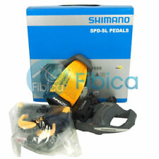 New Shimano PD-R550 SPD SL Carbon Road Clipless Pedals Grey with Cleats