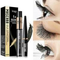 2PCS Waterproof 4D Silk Fiber Eyelash Mascara Extension Curl & Lash Mascara Kit