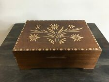 Vintage Reuge Edelweiss Hand Carved Music Box