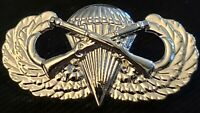 Airborne Infantry Jump Wing Badge US Army Military Parachute Rifles Pin SILVER
