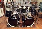 Ludwig Element Evolution 7 Piece Double Bass Drum Set-Zildjian ZBT Cymbals-Black