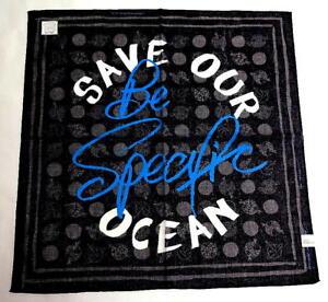 Vivienne Westwood Handkerchief scarf bandana L Cotton Gray ORB Auth New
