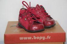 BOPY -  Zeflow - Chaussures bébé Fille -  Cuir Rouge -  T 18  neuf