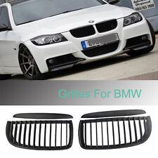 Black Front Kidney Grill Grilles For BMW 05-08 Sedan Wagon E90 E91 320i-335i 4DR