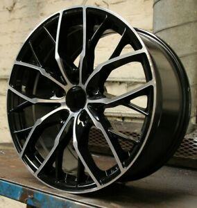 "19"" LMR Penta Alloy Wheels Black Polished 5x120 fits BMW 1 Series"