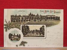 Farblitho - Gruss aus Maria Eich - Planegg - Gasthof Volm - gel 1899      m1