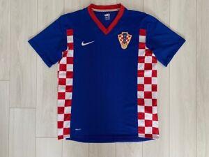 CROATIA HOME FOOTBALL SHIRT 2007/2009 MEN'S SOCCER JERSEY NIKE BLUE SIZE M