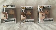 Star Wars Rogue One Pop Funko figures x 3 incl Jyn Erso New and Sealed
