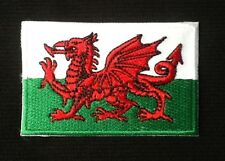 WALES WELSH CYMRU RED DRAGON NATIONAL FLAG BADGE IRON SEW ON PATCH 1