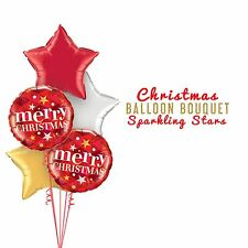 Party Supplies Christmas Sparkling Stars  Foil Balloons Bouquet