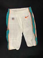 #7 JASON SANDERS MIAMI DOLPHINS NIKE GAME USED WHITE PANTS SIZE-32 YEAR-2018