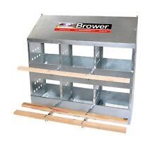 2 Pack!  Brower 6 Hole Galvanized Hen Nest Chicken Nesting Laying Box. USA!