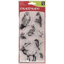 """""""Inkadinkado Clear Stamps 4""""""""X8""""""""-Winter Wildlife"""""""