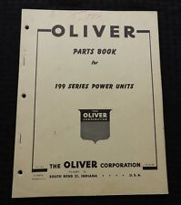 1954 Oliver 199 Series Power Unit Stationary Engine Parts Catalog Manual Scarce