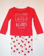 "NWT OshKosh B'Gosh ""Always Be Kind"" Pajamas 2-Pieces Red/White Size 4T"