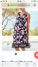 JOJO MAMAN BEBE Navy Blue Floral Maternity Dress  Size 10 Brand New With Tags