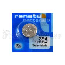 1 X Renata 394 Argent Oxyde Batterie 1.55V SR936W SR45 V394 Montre 0% Mercure