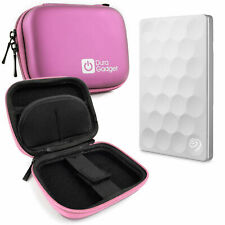 Pink Hard EVA Case with Carabiner Clip For Seagate Backup Ultra Slim HDD