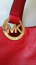 NEW LARGE  Michael Kors Fulton Red Leather Hobo Bag RRP $348.00