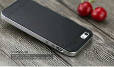 Iphone 5 5S SE Cover Case with PC surround Black Silver