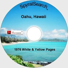 HI - Oahu Hawaii 1976 White & Yellow Pages CD - Text Searchable!