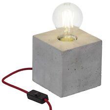 Brilliant LED Tischleuchte Yorkshire Beton grau Schalter E27 Lampe Leuchte
