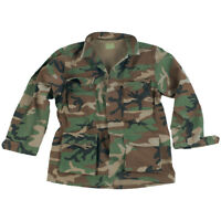 Tactical BDU Army Uniform Mens Shirt US M81 Ripstop Cotton Woodland Camo S-XXL