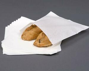 Unstrung White GreaseProof Resistant Sulphite Paper Bags Sandwich Market Food