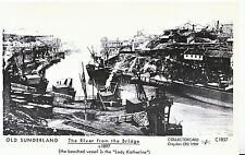 Old Sunderland  Postcard - The River from The Bridge c1897 - Pamlin Print  U761