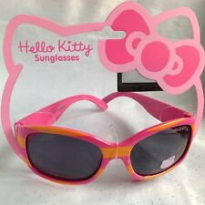 San Rio Hello Kitty Pink And Orange Stripe 100% UVA Protection Sunglasses-New