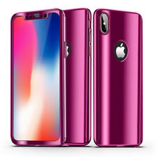 360 Plating Mirror Case For iPhone X 8 7 6 6S Plus SE Cover Full Protection Case