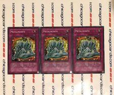 3x Metalmorph Unlimited YuGiOh Super Rare HOLO PP01-EN014 New Mint
