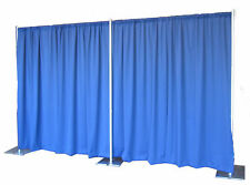 QUICK BACKDROP KIT 8 FT HIGH x 10 FT- 50 FT WIDE PIPE WITH DRAPE((ROYAL PREMIER)