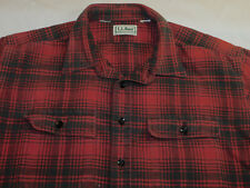 LL BEAN SHIRT CHAMOIS FLANNEL RED BLACK ~SOFT~ THICK MEN'S XXL