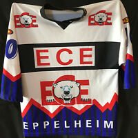 TOP TIPP !!! ECE EISBÄREN EPPELHEIM Fantrikot Nr. 10 Eishockey Größe M Autogramm