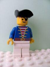 LEGO Minifig pi006 @@ Pirate Blue Jacket White Legs, Pirate Triangle Hat 6286