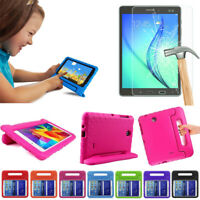 Kids Shockproof EVA Stand Case + Tempered Glass Film For iPad / Samsung Tablet