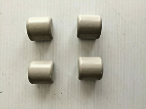 SET OF 4 US ARMY FOLDING COT BED REPLACEMENT FOOT END CAPS/ END BAR CAPS