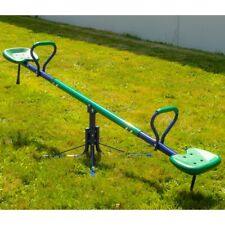ALEKO Outdoor Sturdy Child 360-Degree Spinning Seesaw Play Set - Green